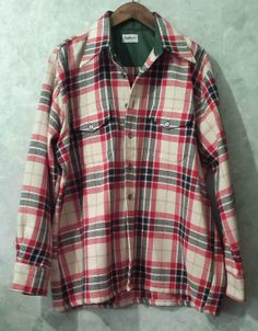 1940s Vintage Kaufmanns of Pittsburgh Plaid Shirt Size XL - Rare
