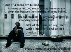 Another pin with horrible bullying facts. Important to think about and actually be aware of that it is this severe.