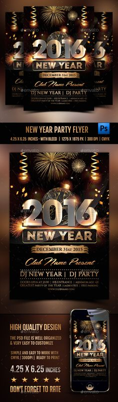 new year flyer template psd design nye download httpgraphicriver