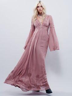 Free People Bell Sleeve Maxi Dress