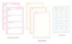 Calendario, hojas de to-do, y planificadores semanales >> omhg planner sheets