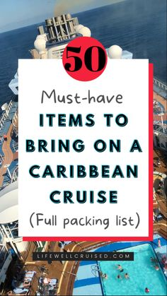 Be prepared for your Caribbean cruise with a packing list of more than 50 cruise essentials. You'll have everything you need for your cruise vacation! #cruisetips #cruises #cruisehacks #cruise #packinghacks Packing List For Cruise, Cruise Tips, Cruise Travel, Packing Tips For Travel, Cruise Vacation, Vacation Packing, Travel Hacks, Vacation Deals, Disney Cruise