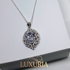 Wedding Necklace.  Ideal for bride or bridesmaid jewelry.  Luxuria jewellery 925 Sterling Silver NZ