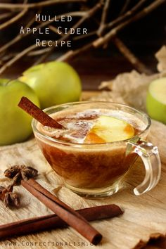 A delicious Mulled Apple Cider Recipe using whole apples, red wine, mulling spices, and your Vitamix blender