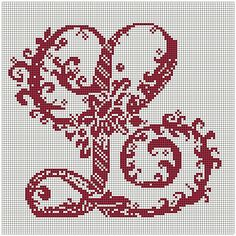 The Letter L, for me! Anyone want to stitch it? I love the reds.....