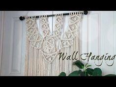 DIY Macrame Wall Hanging tutorial - Free Macrame Pattern Explained- DIY Craft - YouTube