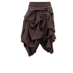 Short Brown Steampunk Skirt