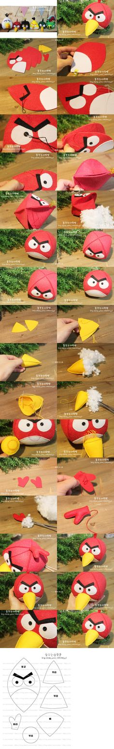 Angry Birds ~ no · played angry birds game also heard it's name · various magical effect of the non-woven · Angry Birds doll articles · to red bird Animals Kids Crafts, Felt Crafts, Diy And Crafts, Craft Kids, Red Angry Bird, Festa Angry Birds, Bird Theme, Bird Toys, Plushies