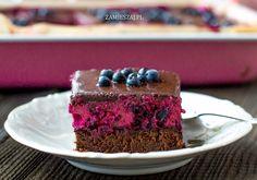 Blueberrycake - Kostka jagodowo – czekoladowa Pierogi, Desserts, Recipes, Food, Tailgate Desserts, Deserts, Recipies, Essen, Postres