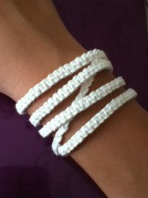 Back-to-basic macrame bracelet. It was supposed to be like a Free People or Chan Luu wrap bracelet, but it doesn't really look like one...