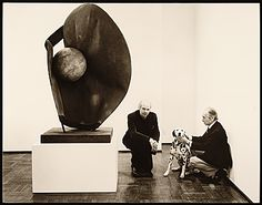 Citation: Claes Oldenburg and Leo Castelli, with a dog, between 1970 and 1990 / unidentified photographer. Leo Castelli Gallery records, Archives of American Art, Smithsonian Institution.