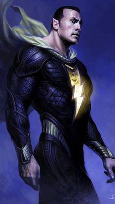 The Rock as Black Adam 🔥 Captain Marvel Shazam, Marvel Vs, Comic Books Art, Comic Art, Comic Pics, Black Adam, Adams Movie, Pin Up, Dc Comics Art