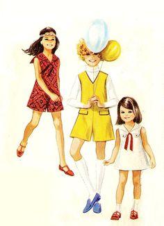 60's Little Girls Dress/Pantdress Sewing by KeepsakesStudio