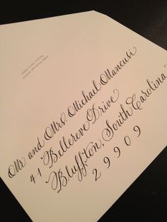 Envelopes addressed in Copperplate by Halo Calligraphy www.halocalligraphy.com