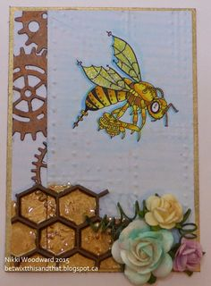 Betwixt this and that : The Art of Self Expression: SCACD Brave Hearts and Eclectic 2 Rubber Stamp Release Steampunk Bee