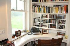 Home Office tisch holz telefon fenster schreibtisch