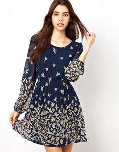 Max C Bird Print Dress