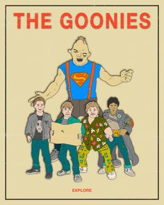 The Goonies Movie Poster by Jazzberry Blue #movie #goonies #poster #art