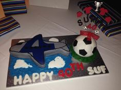 Airplane & Football cake: This was created for Sufian;s Birthday cake at Shampan at the Spinning Wheel Saturday February Fantastic cake 40th Birthday Cakes, Spinning, Airplane, February, Football, Create, Party, Hand Spinning, Plane