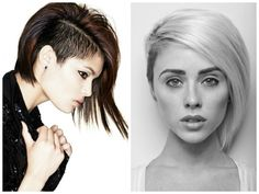Shaved-Side-Asymmetrical-Bob The one on the right! Love....Im gonna do it!