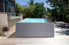 DolceVita Diva - Thatcher Pools and Spas Above Ground Swimming Pools, Swimming Pools Backyard, Above Ground Pool, In Ground Pools, Garden Furniture, Outdoor Furniture, Outdoor Decor, Solar Cover, Temporary Structures