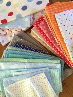 I can't get enough it 'em. Polka Dot Fabric, Polka Dots, Fabrics, Crafty, Quilts, Canning, Blanket, Crochet, Crochet Hooks
