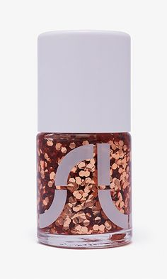 Copper and glitter nail polish that oh-so glam.
