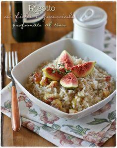 Risotto ai fichi e guanciale profumato al timo – Figs and guanciale risotto with thyme