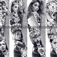 Свободные проекты❗️Эксклюзивно! В ДиректВремя забиваться Будь на стиле⚜️#elmirakruger#bolnobudet #adidas #sport#fitnessgirl #tattoo #tattooed #tattooart #tattoolife #realism #rap #tattoospb #spb #saintpetersburg #handtattoo #рукав#тату#татуспб#skull #skulpture #rose #artist #angel #art#rap#hiphop #rock #style #chicano#тату#татуспб#tattoochicano#camaro Full Arm Tattoos, Girls With Sleeve Tattoos, Sister Tattoos, Girl Tattoos, Gangsta Tattoos, Badass Tattoos, Sexy Tattoos, Body Art Tattoos, Chicano Style Tattoo