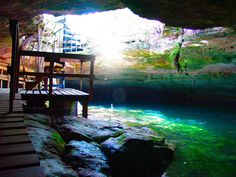 Lucayan Caves on Grand Bahama island