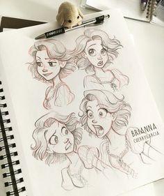 Rapunzel Expressions by briannacherrygarcia on DeviantArt Cartoon Art Styles, Cartoon Sketches, Disney Sketches, Art Drawings Sketches, Disney Drawings, Disney Style Drawing, Disney Art Style, Disney Princess Art, Disney Rapunzel