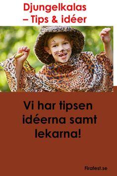 Kalas med djungeltema. Roliga och bra tips inför temakalaset hittar du här.#barnkalas #firafest #kalas #skattjakt #temakalas