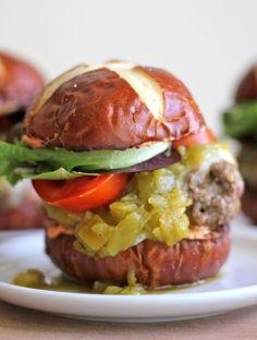 Green Chili Bacon Cheeseburger Sliders