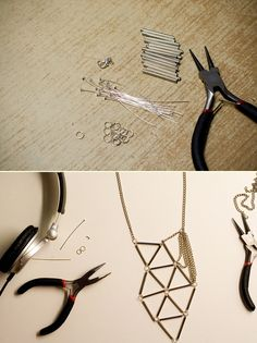 DIY: geometric necklace