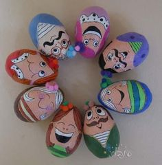 """""""eggs magnet"""" by Inbal Biran...Inspiration ideas for making character rocks! It might be fun to create some characters to paint on rocks!!"""