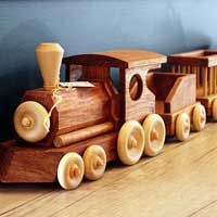 Train Set 6pc - Joe Venables –  16cm H, 13cm W, 160cm L - $495