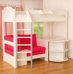 High Sleeper Girl Loft Beds And Bunk Bed On Pinterest