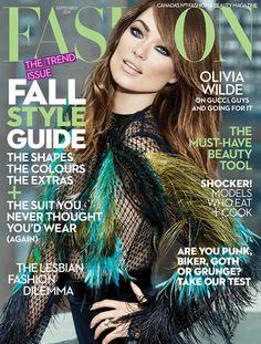 Olivia Wilde goes glam for Fashion magazine of September 2013.