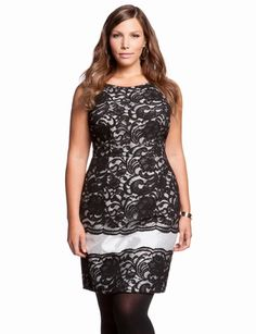 aca615295c44 Lace Overlay Dress from eloquii.com Father s Retirement Party Dress Trendy Plus  Size Clothing