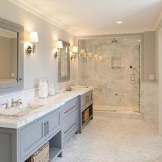 Gray Bathroom, Contemporary, bathroom, Blue Water Home Builders