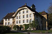 Löwenberg Castle is a castle in the municipality of Murten of the Canton of Fribourg in Switzerland.