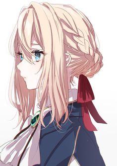 Anime Girl Cute, Anime Art Girl, Anime Love, Violet Evergreen, Violet Evergarden Anime, The Ancient Magus Bride, Estilo Anime, Another Anime, Light Novel