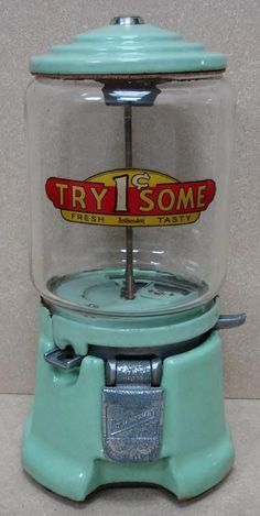 vintage gumball machine teal - Google Search