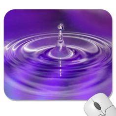 #Purple Water Drop #Mousemat