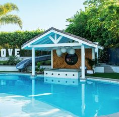 See How HGTV's Christina Anstead Turned Her Backyard Into the Ultimate Waterpark Resort HGTV's Christina Anstead Reveals Photos of Her California Backyard Covered Outdoor Kitchens, Newport House, California Backyard, Pool Sizes, Pool Chemicals, Backyard Paradise, Indoor Outdoor Living, Outdoor Rooms, Outdoor Ideas