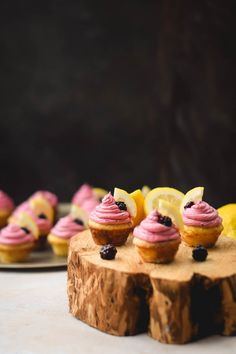 Blackberry Lemonade Mini Cupcakes