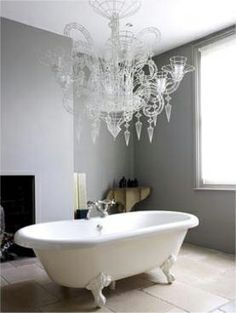 Contemporary bathroom with roll top bath - Image No: 0011373 - GAP Interiors - Picture library specialising in Interiors, Lifestyle Rooms & Homes Room Interior Design, Bathroom Interior, Interior Styling, Design Bathroom, Bad Inspiration, Bathroom Inspiration, Bathroom Ideas, Interior Inspiration, Traditional Bathroom Suites