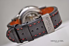 Breil Tribe - Handmade Leather Watch Strap Custom Size and Color by ChristianStraps on Etsy Black Leather, Handmade Leather, Watches, Trending Outfits, Unique Jewelry, Handmade Gifts, Color, Accessories, Etsy