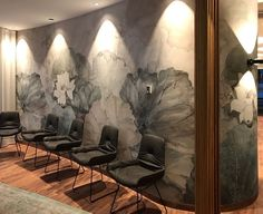 wallpaper to the contemporary furniture - Wall & Deco Contemporary Wallpaper, Contemporary Furniture, Wall Wallpaper, Pattern Wallpaper, E Design, Interior Design, Tropical Houses, Commercial Design, Home Art