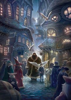 Hagrid takes harry potter with him to diagon ally for buying schoolbooks, a wand. harry potter received also a gift of hagrid, an owl. Harry Potter Tumblr, Fanart Harry Potter, Harry Potter Cinema, Wallpaper Harry Potter, Harry Potter Diagon Alley, Arte Do Harry Potter, Harry Potter Love, Harry Potter Universal, Harry Potter Fandom